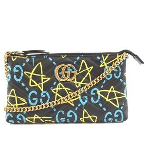 Marmont Gg Logo Quilted Leather Cross Body Bag